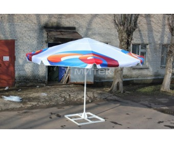 Зонт с логотипом Ростелеком