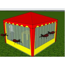 Стенка с антимоскитной сеткой 2,5х2,0 (к беседке 2,5х2,5 и 5,0х2,5)