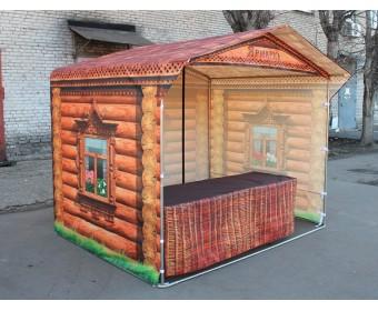 Торговая палатка с брендированием в стиле Избушка